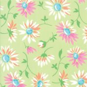 Moda - Good Day  - 6788 -  Modern Floral, Lazy Daisies on Green - 22371 13 - Cotton Fabric
